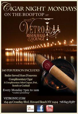Cigar Mondays @ Vetro NYC
