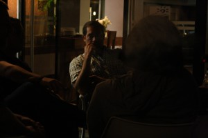 Guillermo Leon, listening to his guests