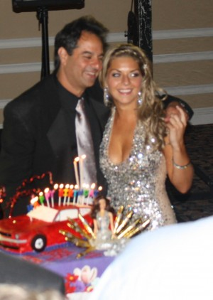 Arielle (25) & Her Dad, Danny (50) getting ready to make a wish