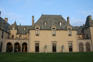 Oheka Castle and the rising moon