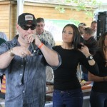 Shawn Darby & Cigar Girls call a winning raffle!