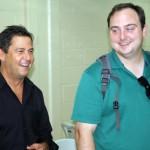 Rick Rodriguez and Patrick Semens share a laugh