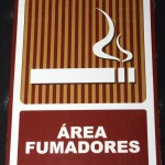 Area Fumadores (Even the Dominican Republic has smoking laws)