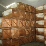 Tobacco being stored
